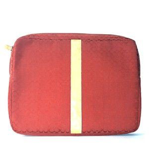 "Rare COACH ""Voyage"" Red 15"" SIS laptop/Tech Case"